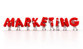 Marketing team d clip art of Royalty Free Stock Images