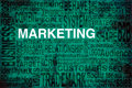 Marketing terms scheme in green colors to be used as background Stock Image