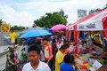 Markets roadside the people shopping at flea market wayside located at nakhon ratchasima province in thailand Stock Photography
