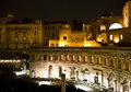 Markets of Trajan by night Stock Photography