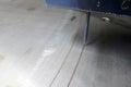 Marking process on the lath machining machine shop Royalty Free Stock Photo