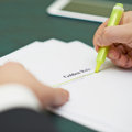 Marking words in a golden rule definition Royalty Free Stock Photo