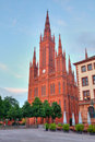 Markt Kirche in Wiesbaden Stock Photography