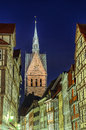 Marktkirche and half-timbered houses of Hannover Royalty Free Stock Photography