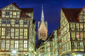 Marktkirche and half-timbered houses of Hannover Royalty Free Stock Image