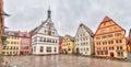 Marktplatz - the main square of Rothenburg ob der Tauber