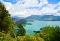 Marlborough sounds as seen from queen charlotte track Stock Image
