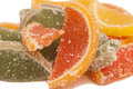 Marmalade as lemons slice with sugar isolated Royalty Free Stock Photo