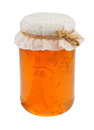 Marmalade jam jar isolated Royalty Free Stock Image