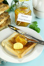 Marmalade On Toast Royalty Free Stock Image