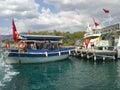 Marmaris harbor many tourist boats at the of turkey Stock Photography