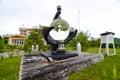Marmeren campbell stokes recorder temperatuur Royalty-vrije Stock Fotografie