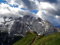 Marmolada Alps, Italy Stock Photo
