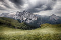 Marmolada mountains ridge val di fassa italian dolomites Royalty Free Stock Image
