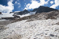 Marmolada panorama of glacier in italian s dolomities Royalty Free Stock Image