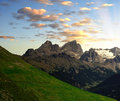 Marmolada peak val di fassa italy alps Stock Photography