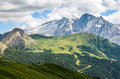 Marmolada a view of the glacier from sella pass Royalty Free Stock Image