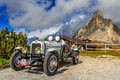 Oldtimer Marmon Roosevelt in Passo Giau Royalty Free Stock Photo