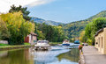 Marne - Rhine Canal in Vosges mountains Stock Photos