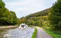 Marne rhine canal in vosges mountains alsase france Stock Photo