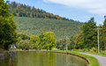 Marne rhine canal in vosges mountains alsase france Royalty Free Stock Photos