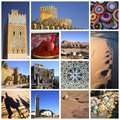 Marocco collage a of photo about and desert Royalty Free Stock Photo