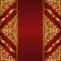 Maroon background golden ornaments Royalty Free Stock Images