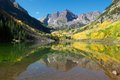 Maroon bells beautiful in colorado is a symbol of nature and the great outdoors Royalty Free Stock Photography