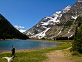 Maroon Bells hike Royalty Free Stock Photo