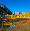 Maroon Bells Landscape Royalty Free Stock Photography