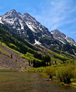 Maroon Bells view Royalty Free Stock Photo