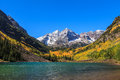 Maroon bells white river national forest colorado Royalty Free Stock Images