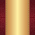 Maroon gold background ornaments Stock Photo