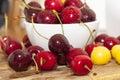 Maroon ripe cherries Royalty Free Stock Photo