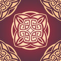 Maroon seamless damask pattern vector illustration of Royalty Free Stock Photo