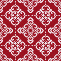 Maroon seamless damask pattern vector illustration of Royalty Free Stock Images