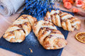 Marple and pecan plait pastry Royalty Free Stock Photo