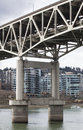 Marquam bridge willamette river downtown portland distance Stock Images