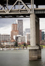 Marquam bridge willamette river downtown portland distance Stock Photos
