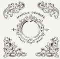 Marquee depose vintage quality sign deposee Royalty Free Stock Photos