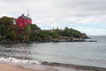 Marquette Harbor Lighthouse, Marquette County, Michigan, USA Royalty Free Stock Photo