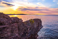 Marquette Michigan Sunset Royalty Free Stock Photo