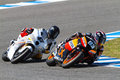 Marquez and Rodriguez  pilot of Moto2 Royalty Free Stock Photos