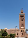 Marrakech koutoubia mosque and tower the or kutubiyya is the largest in morocco the is also known by several other Royalty Free Stock Photography