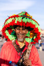 Marrakech water seller in main square Royalty Free Stock Photography