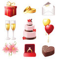 Marriage icons Stock Photo