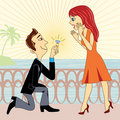 Marriage proposal Royalty Free Stock Photo