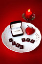 Marriage proposal , wedding and love concept Royalty Free Stock Image
