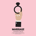 Marriage ring concept vector illustration Stock Photo
