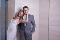 Marriage a series of wedding dresses and models Royalty Free Stock Photography